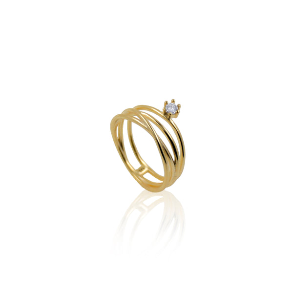 LILY GOLD RING