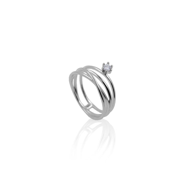 LILY SILVER RING