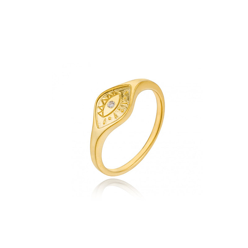 ANILLO EVIL EYE GOLD