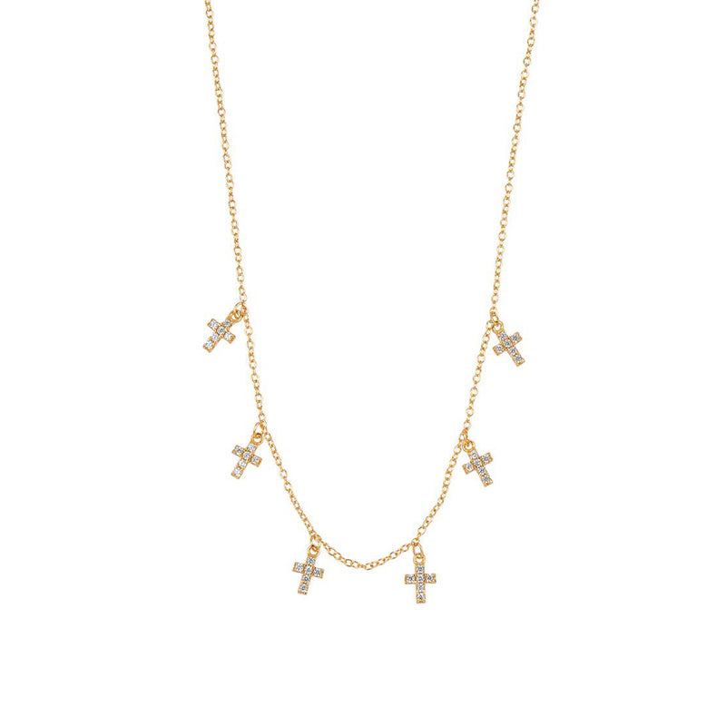 COLLAR CRUCES GOLD