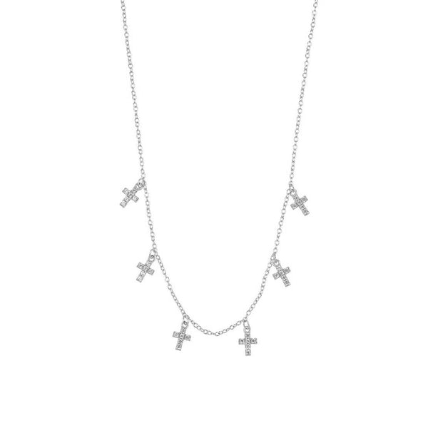 CRUCES SILVER NECKLACE