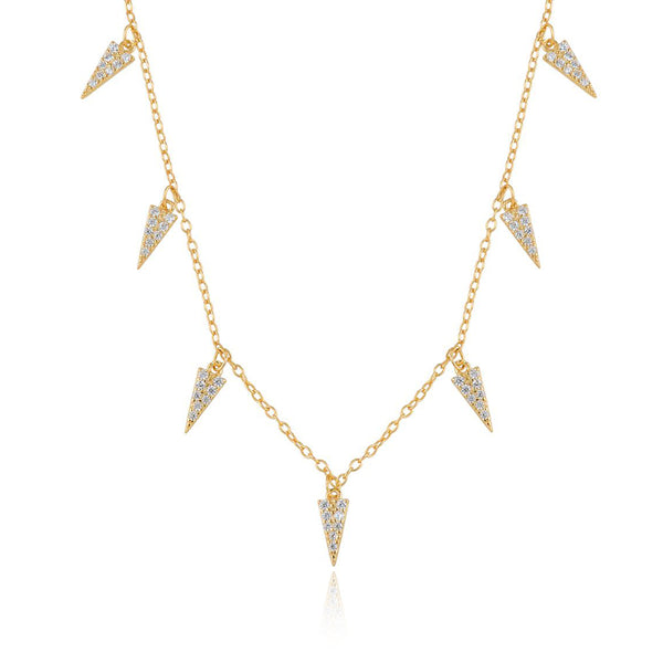 COLLAR SPIKE GOLD