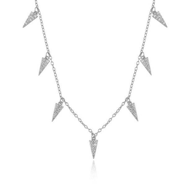 SPIKE SILVER NECKLACE