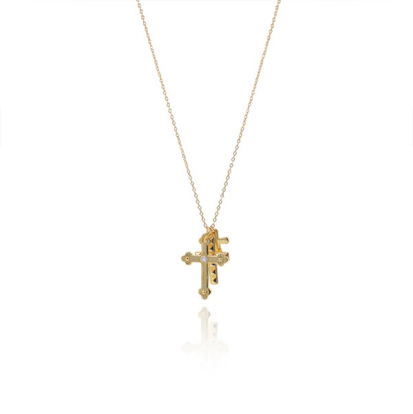 CROSSES GOLD NECKLACE