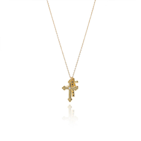 COLLAR CROSSES GOLD