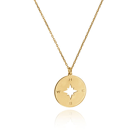 COLLAR COMPASS GOLD