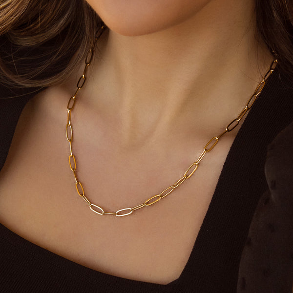COLLAR PAPERCLIP GOLD