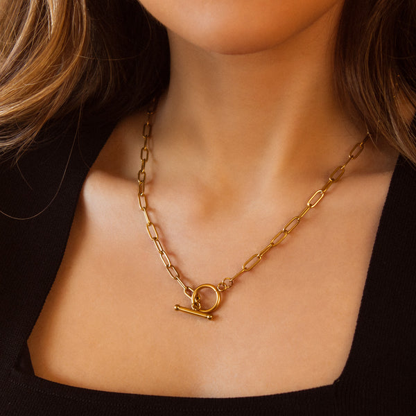 COLLAR TOGGLE GOLD