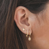 SKULL GOLD EARRINGS