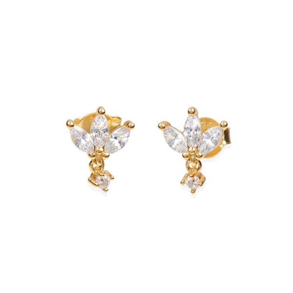 MARQUISES GOLD EARRINGS