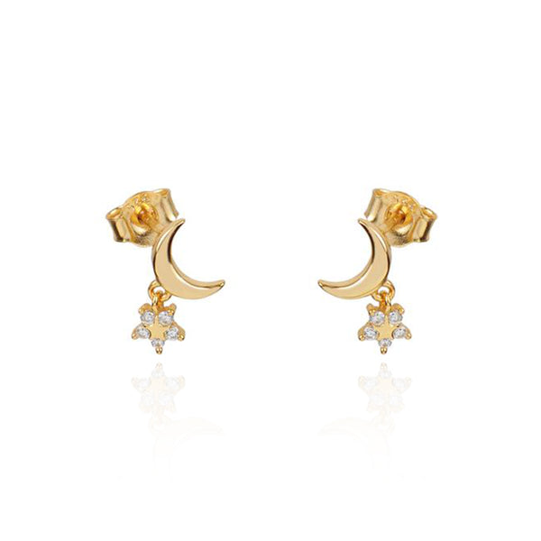 MOONLIGHT GOLD EARRINGS