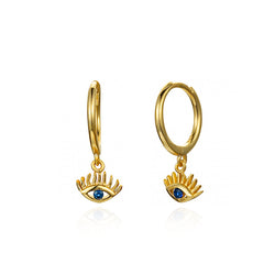 PENDIENTES BLUE EYE GOLD