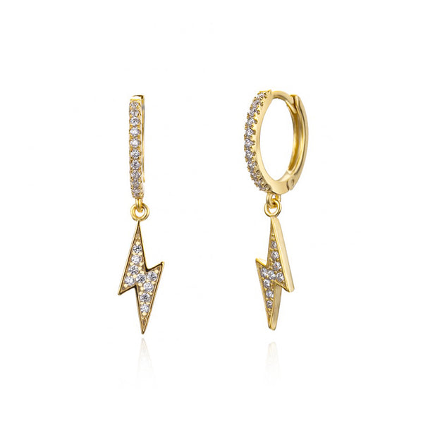 HOOP BOWIE GOLD EARRINGS