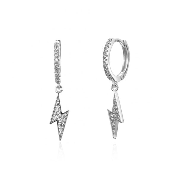 HOOP BOWIE SILVER EARRINGS