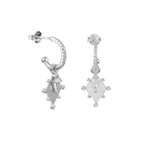 THEODORA SILVER EARRINGS