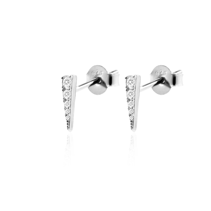 SHARP SILVER EARRINGS
