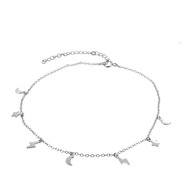 SPACE SILVER ANKLET