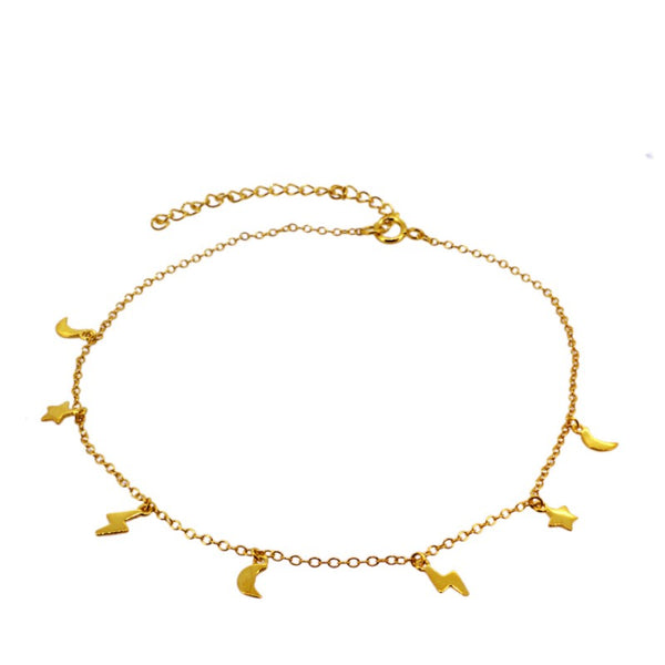 SPACE GOLD ANKLET