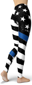 Thin Blue Line Leggings - NiftyLooks