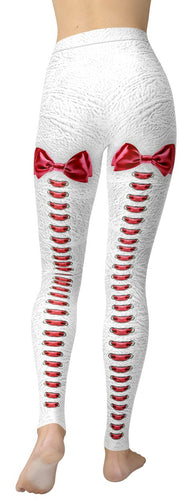 Sassy Red Bowtie Leggings - NiftyLooks