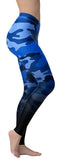 Blue Fading Camo Leggings - NiftyLooks