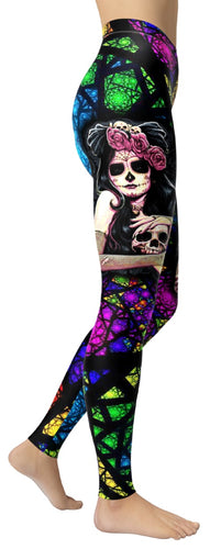 Day Of The Dead Leggings - NiftyLooks