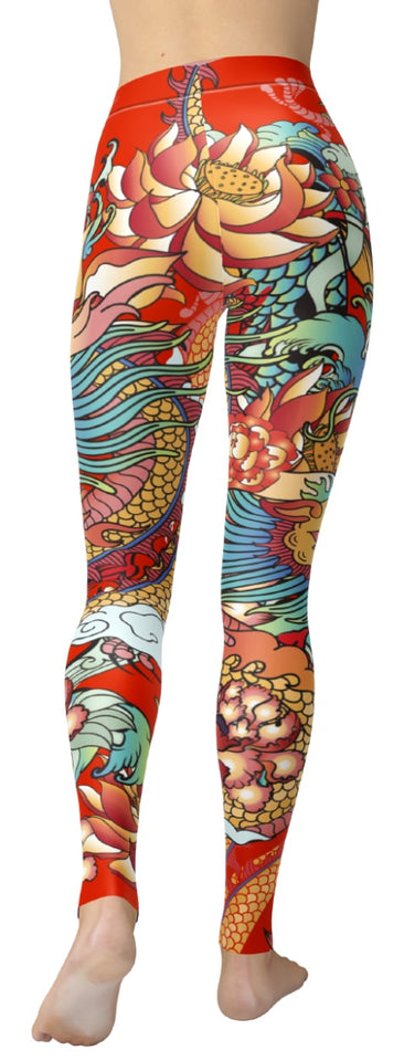 Dragon Red Leggings - NiftyLooks