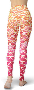 Gold Dazzling Mermaid Leggings - NiftyLooks