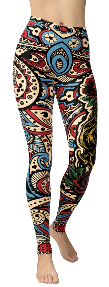 Mexican Mandala Leggings - NiftyLooks