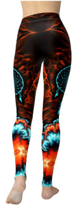 Native Pride Dark Dreamcatcher Leggings - NiftyLooks