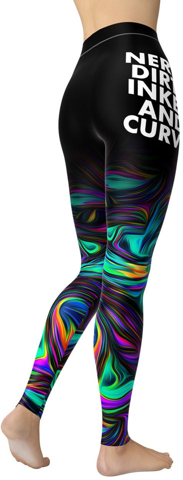 Hypnotic Nerdy, Dirty, Inked & Curvy Leggings - NiftyLooks