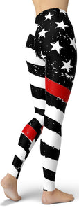 Thin Red Line Leggings - NiftyLooks