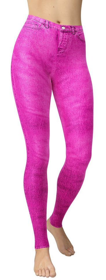 Purple Jeans Leggings - NiftyLooks