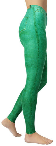 Green Jeans Leggings - NiftyLooks