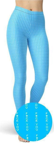 F U Light Blue Leggings - NiftyLooks