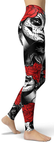 Limited Edition Day Of The Dead Leggings - NiftyLooks