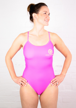 'Signature Range' Single Strap one piece swimsuit - Pink