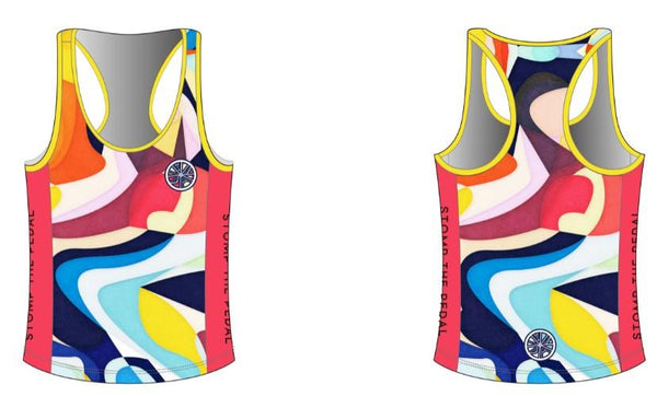 'Pick n Mix'  Racerback Singlet - All colours and designs - Stomp the Pedal