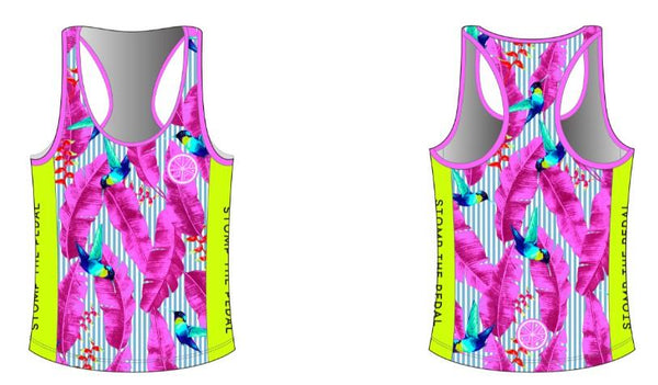 Racerback Singlet - Hummingbird - LAST ITEM EVER - 3XL only