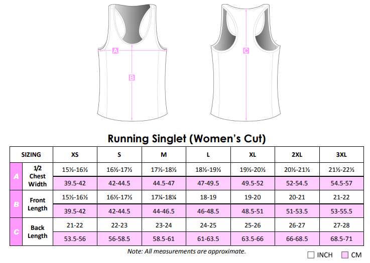 Racerback Singlet - Pretty in Pink - Stomp the Pedal