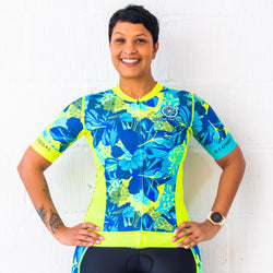 'Ohana' Aero Short Sleeve Tri Top (1 small left) - Stomp the Pedal