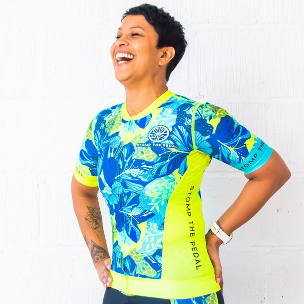 'Ohana' Aero Short Sleeve Tri Top - Stomp the Pedal
