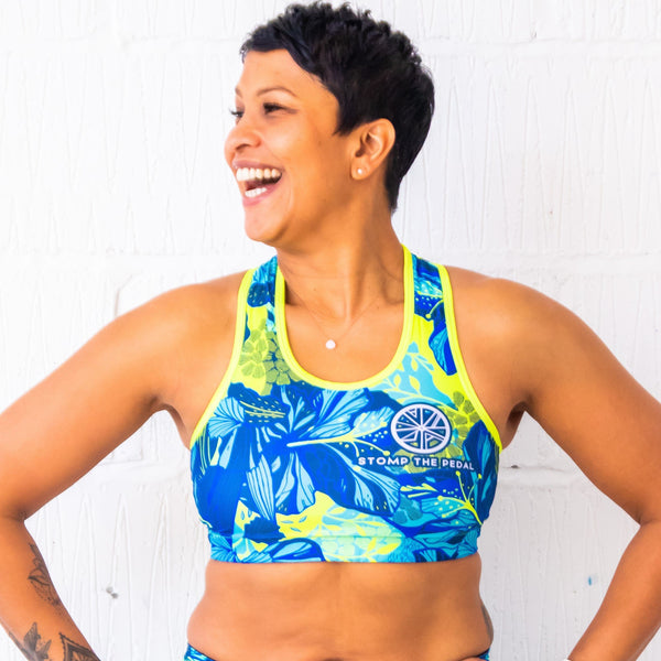 'Ohana' Sports Bra - Stomp the Pedal