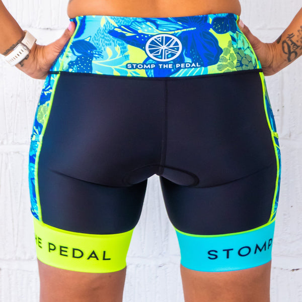 'Ohana' Tri Shorts - Stomp the Pedal