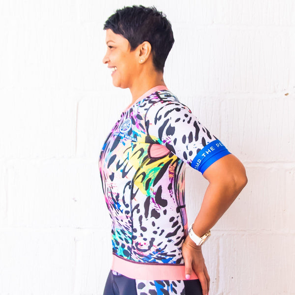'Serengeti' Aero Short Sleeve Tri Top - Stomp the Pedal