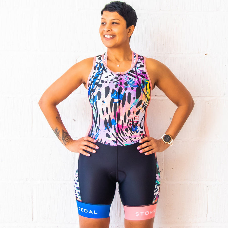 'Serengeti' Sleeveless Trisuit - Stomp the Pedal