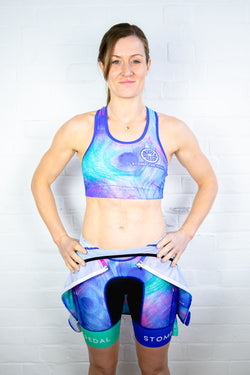 'Pretty Peacock' Sports Bra - Stomp the Pedal