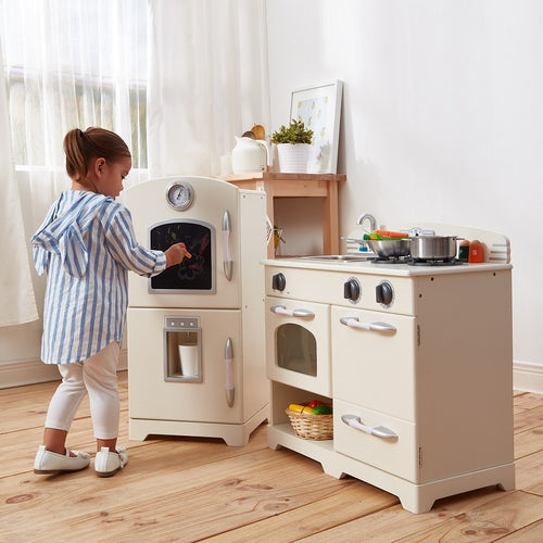 Teamson Kids Classic Play Kitchen - White (2 Piece)