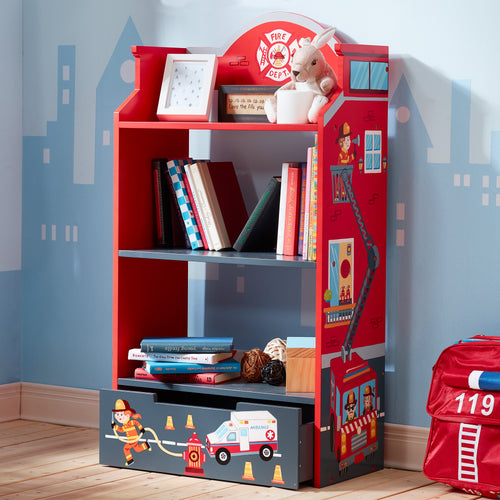 Fantasy Fields by Teamson Lil Fire Fighters Bookshelf