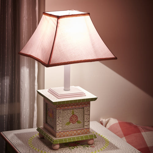 Fantasy Fields by Teamson Crackle Rose Table Lamp
